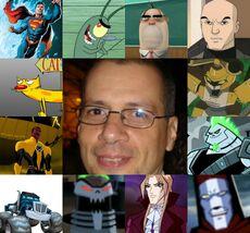Luis y algunos de sus personajes