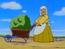 Anciana de la carretilla