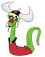Lady hiss from Mighty Magiswords