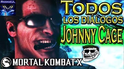 Todos los diálogos de Johnny Cage en Mortal Kombat X Maestro de lucha y del chiste
