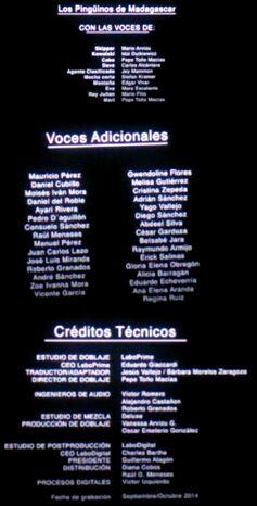 Doblaje Latino de Los Pingüinos de Madagascar (Película - Versión Cine)