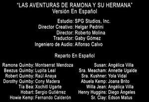 Doblaje Latino de Ramona y Beezus (2)