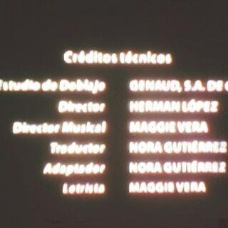 Créditos de doblaje en DVD, parte 1.