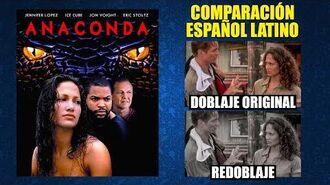 Anaconda -1997- Doblaje Original y Redoblaje - Español Latino - Comparación y Muestra