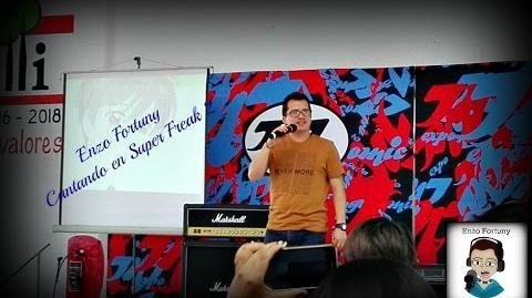 Enzo Fortuny cantando el opening de Inuyasha (Super Freak 2)
