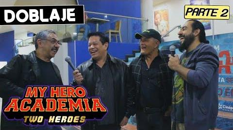 MY HERO ACADEMIA TWO HEROES LATINO Parte 2 Entrevista al elenco My Hero Academia Two Heroes