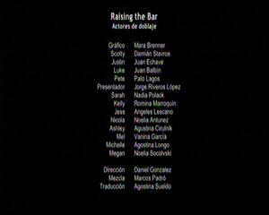Créditos de doblaje de Subir el nivel (TV) (DC)