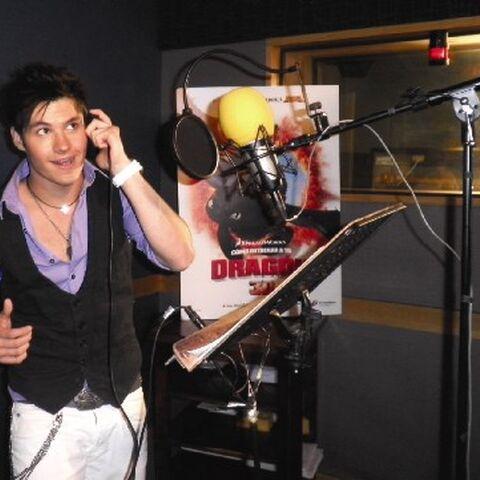 Eleazar Gómez durante la grabación de la película.