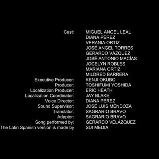 Créditos de doblaje de la temporada 18 en Netflix.