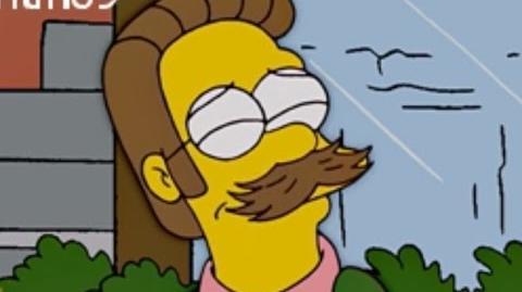 Flanders presume su bigote como Marilyn Monroe
