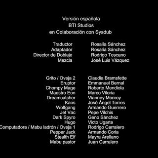 Creditos del doblaje (Tem. 3).