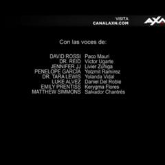 Créditos de la duodécima temporada (voces).