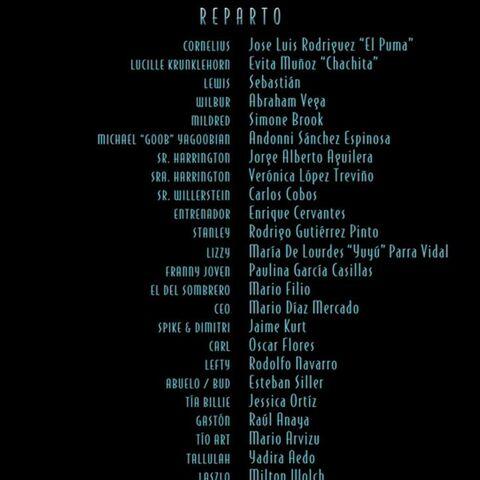 Créditos de Doblaje en el DVD y Netflix.