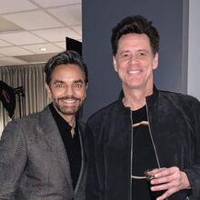 Eugenio Derbez y Jim Carrey