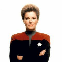 La Capitana Kathryn Janeway en <a href=