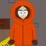 Hombre disfrazado de Kenny SP