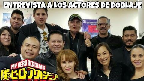 Entrevista a los Actores de Voz de Boku No Hero Academia Dos Héroes Preguntas en la Premier