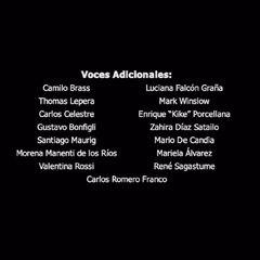 Créditos de doblaje del DVD (2 de 3).