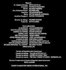 Doblaje Latino Doctor Strange 2016 Creditos
