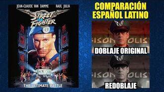 Street Fighter- La Última Batalla -1994- Doblaje Original y Redoblaje - Español Latino - Comparación
