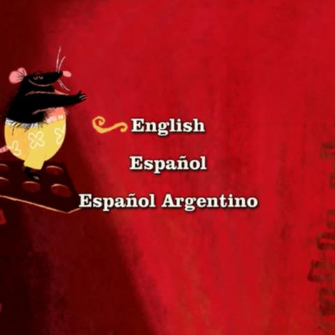 Menú en el cual se puede elegir el idioma.