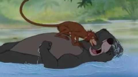 El libro de la selva; los monos raptan a mowgli