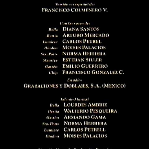 Créditos del VHS