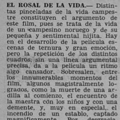 Control de Estrenos. Revista Ecran 1945.