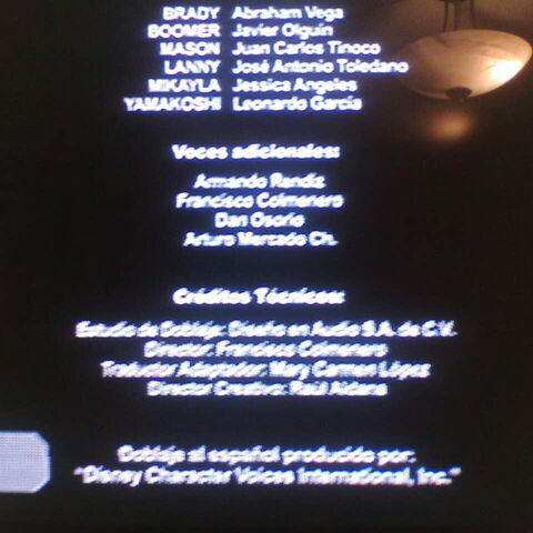 Creditos del Doblaje (2da temporada)