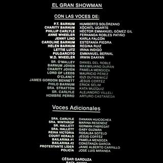 Créditos del cine.