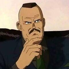 Coronel Shikishima en el primer redoblaje de <a href=