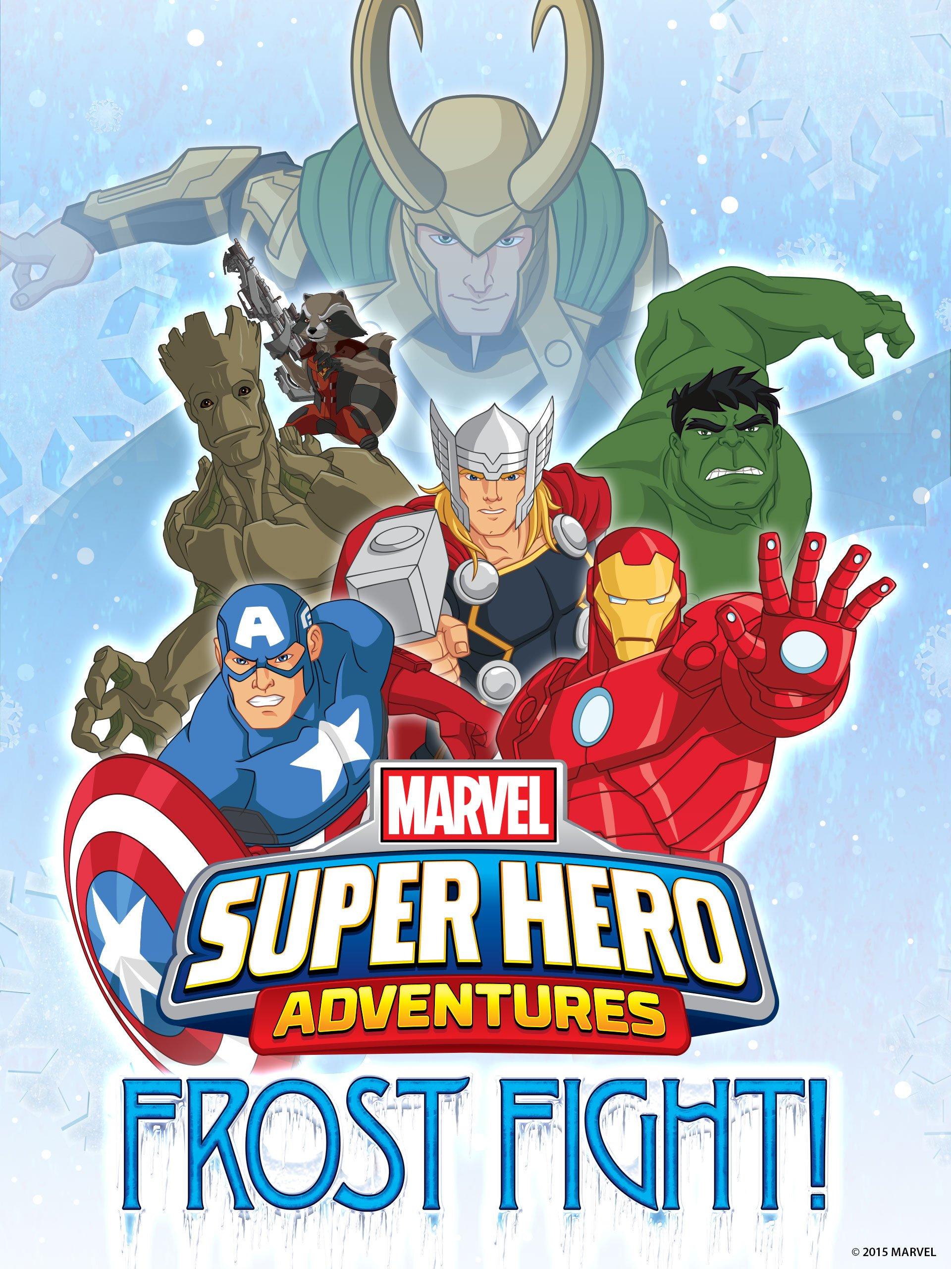 Las aventuras de los superhéroes de Marvel: ¡Combate sobre hielo ...