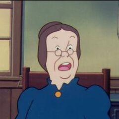 La Tía Polly en la versión anime de <a href=
