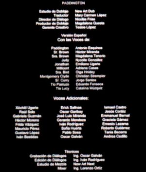 Doblaje Latino de Paddington (Versión Cine)