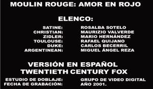 Doblaje Latino de Moulin Rouge!