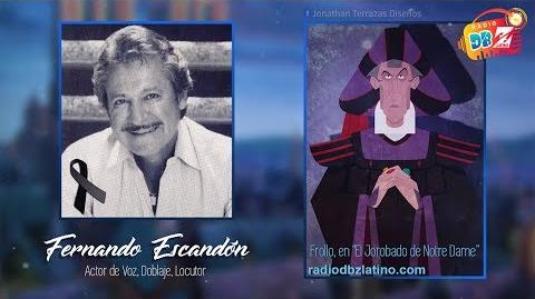 Fernando Escandón, la voz de Frollo -Q.E.P.D