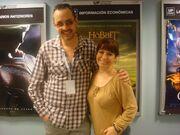 Carmen Fatima con Ricardo Tejedo