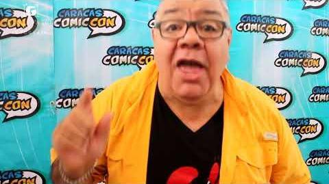 Saludo de Luis Pérez Pons (Don Cangrejo) en la Caracas Comic Con