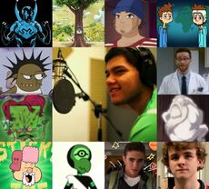 Carlos y algunos de sus personajes