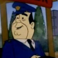 Conductor del camión tourístico en <a href=