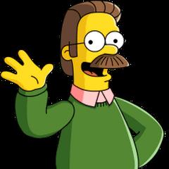 Ned Flanders también en <a href=