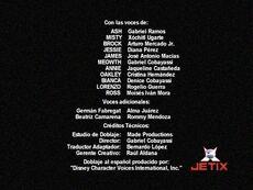 Créditos del doblaje de Pokemon Celebi la voz del bosque (TV) (Jetix)