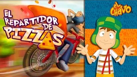 El repartidor de pizzas Chavo Animado
