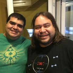 Ricardo Méndez junto a Luis Daniel Ramírez