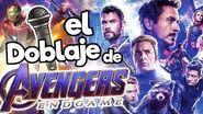 El doblaje latino de AVENGERS END GAME!! Memo Aponte