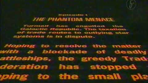 La Guerra de las Galaxias Episodio I La Amenaza Fantasma - Introducción narrada Español Latino