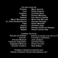 Créditos de doblaje de episodios 59 a 64.