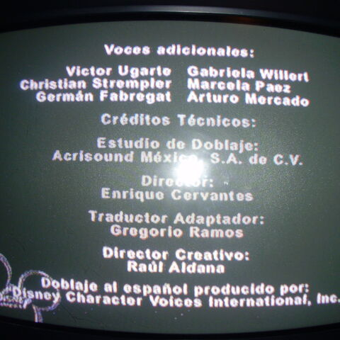 Créditos de doblaje para TV (2).