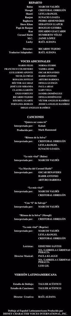 Doblaje Latino de El Libro de la Selva 2 (Edición Especial 2008)