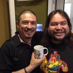 Ricardo Méndez junto a Carlos Hernández